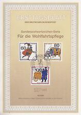 TIMBRE FDC ALLEMAGNE  BERLIN OBL ERSTTAGSBLATT HISTOIRE DES POSTES  1989