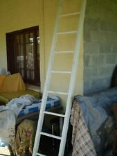 Shabby white painted timber ladder hang it in the kitchen beach or wedding style