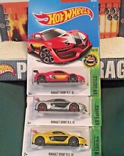 Hot Wheels LOT Renault Sport RS EXOTICS Silver Red Yellow LM Racing France NMCs