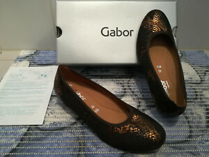 Gabor Damen Ballerinas - Gr. 38,5 UK 5,5 Weite G - NEU