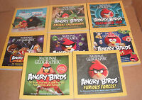 Lot of 8 National Geographic The Angry Birds Books NEW