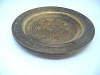 VINTAGE CARVED WOODEN TREEN PIN / KEY DISH