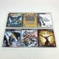 Lot 6 Playstation 3 PS3 God War Ascension Soul Calibur V Metal Gear Rising Games