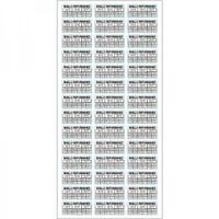 42 pezzi adesivi antieffrazione antirimozione REFURBISHED con mese e anno