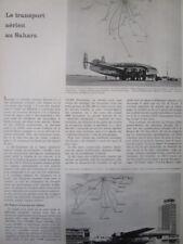 4/58 ARTICLE TRANSPORT AERIEN SAHARA AIR FRANCE CGTA AIR ALGERIE ALGER BREGUET