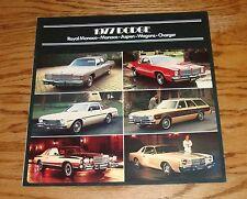 Original 1977 Dodge Full Line Sales Brochure 77 Charger Monaco Aspen