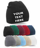 Personalised Embroidered Beanie Hat Pullover Custom Printed Workwear Wooley Hat
