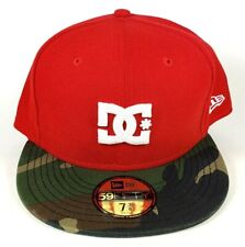 DC SHOES New Era 59FIFTY DYNASTY Hat Red Camo ($30) Fitted Cap RARE 5950