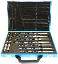 9 tlg. HSS Spiralbohrer 14,5-30mm, Konus-Bohrer, Morsekegel MK2, MK3, DIN345