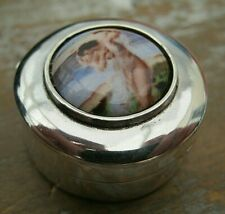 English Hallmarked Sterling Silver & Enamel Erotic / Risque Box - Vinaigrette