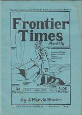 FRONTIER TIMES MONTHLY APRIL 1926 REPRINT