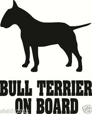 English bull terrier à bord, autocollant voiture, silhouette. super cadeau pour dog amant