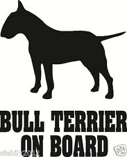 English bull terrier On Board Car Sticker van silhouette Great Gift Dog Lover