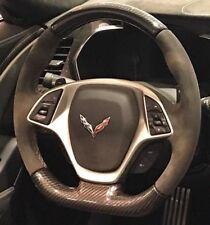 C7 Stingray Z06 Grand Sport ZR1 Corvette Steering Wheel Suede Carbon Gray Stitch