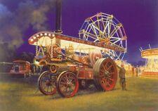 Showmans Traction Engine Steam Fair Carnival Rides Birthday Card