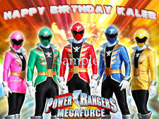 POWER RANGERS Edible Photo CAKE Topper Decoration ICING Image Party Supply