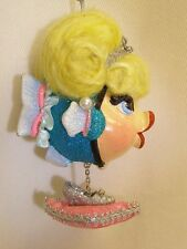 Katherine's collection Cinderella Kissing fish Christmas ornament Fairy tale kid