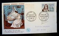 FRANCE PREMIER JOUR FDC YVERT 1214    M. DESBORDES VALMORE   30F   DOUAI    1959