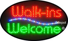 """US Seller Animated Walk-ins Welcome Led Sign neon. Video inside.  21""""x13-1/2"""""""