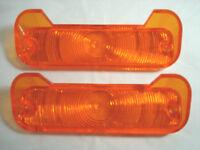 Chevrolet Chevy Chevelle 1965 Park Light Lens-Plastic w/Guide Script One Set