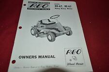 Wheel Horse REO RR-67 RE-67 Riding Mower Lawn Tractor Operator's Manual BVPA