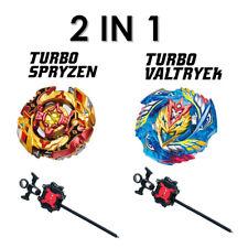 Set of 2 Beyblade Burst Turbo Valtryek/Spryzen w/L-R Launcher X2 B-127/B-128