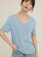 Women's Solid Soft Short Sleeve Crewneck T-Shirt Base Layer Tee