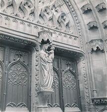 RIOM c. 1938 - Statue Ste Vierge  Église Notre-Dame du Marthuret - DIV 9668