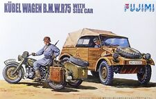 FUJIMI KUBELWAGEN & BMW R75 MOTORCYCLE MODEL KIT NEW 1/76