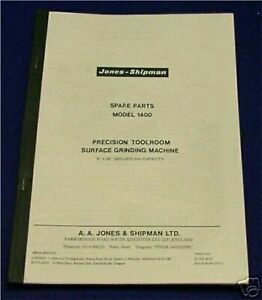 Jones & Shipman 1400 Surface Grinder Parts List