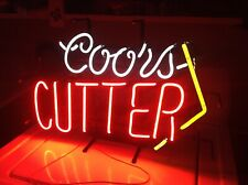 Vintage Coors Cutter Beer Neon Sign / Stand