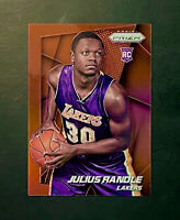 2014-15 Panini Prizm Julius Randle Red Prizm Rookie RC #257 SP #'d 27/49