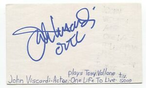 John Viscardi Signed 3x5 Index Card Autograph Signature Actor