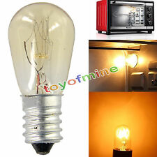 2x Edison E14 SES Oven Lamp Globe Light Refrigerator Bulb AC220-240V 15W 300°C
