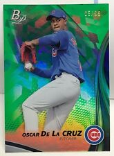 Oscar De La Cruz 2017 Bowman Platinum Top Prospect GREEN Parallel #d 5/99 - CUBS