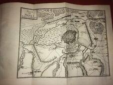 PLAN DE LA VILLE DE MONS ( BELGIQUE ) 1691