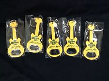 5 CORONA LIGHT BEER KENNY CHESNEY GUITAR SHAPED BOTTLE OPENERS KEYCHAIN NEW!!