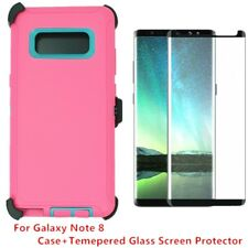 For Samsung Galaxy Note 8 Defender Case Cover w/ Tempered Glass Screen PK-TL