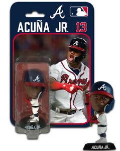 "Ronald Acuna Jr Atlanta Braves Imports Dragon Baseball Bobblehead Figure 4"""