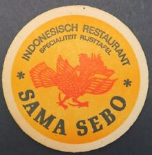 Ancien sous-bock bière SAMA SEBO Indonésie beer beermat coaster Bierdeckel 13