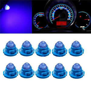 10* Blue T4.7 Wedge LED Bulbs Car Instrument Panel Light Lamp Accessories