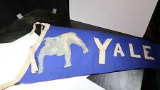 1910s Yale University Felt Pennant with Bulldog
