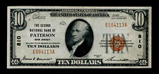 1929 $10 Paterson New Jersey NJ National Currency