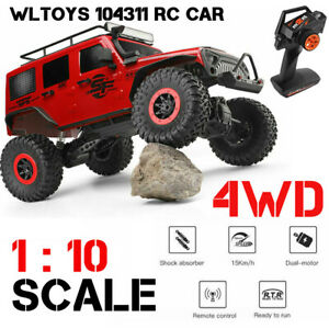 WLtoys 104311 Remote Control 2.4G 1/10 4WD RTR Jeep Car Brushed Off-road RC Car