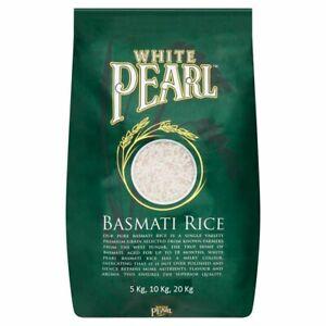 White Pearl Basmati Rice Original Biryani Palau 5 Kg 10 Kg and 20 Kg