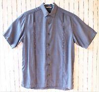 Tommy Bahama Tencel Lyocell Blue Medium Button Down Short Sleeve Mens Shirt