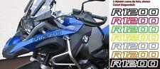 2 Adesivi Serbatoio Moto BMW R 1200 gs adventure LC ouline 28x3 cm