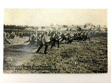 Antique WW1 Rare Postcard - A German Charge Fixed Bayonets - Historical Artifact