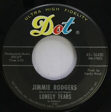 Country 45 Jimmie Rodgers - Lonely Tears / Face In A Crowd On Dot Records