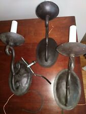Three Electric Wall Sconces